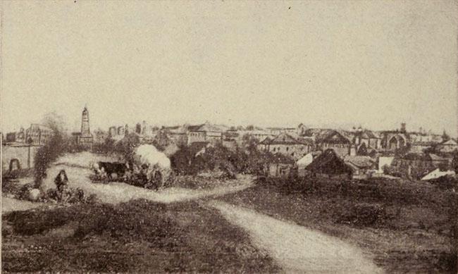 Bucureşti, panoramă, sfârşitul sec. XVIII