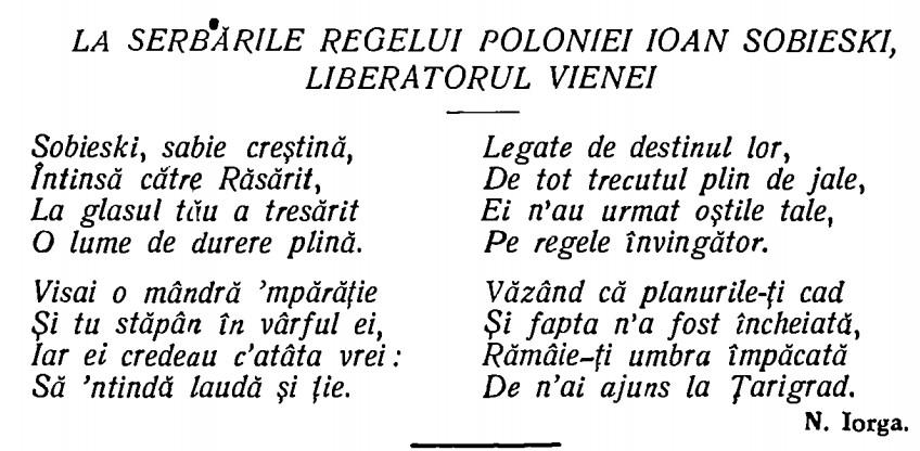 Poezie Iorga
