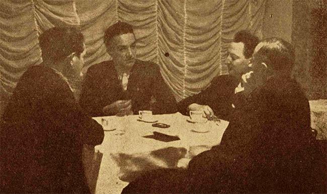 Poliţiştii (comisarii Tiron şi Popovici) şi ziaristul Ionel Teodorescu, cu care am făcut câteva razii.