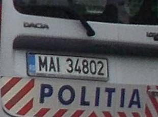 Politisti numar masina