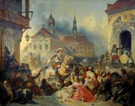 Ţarul Petru I, cucerind Riga