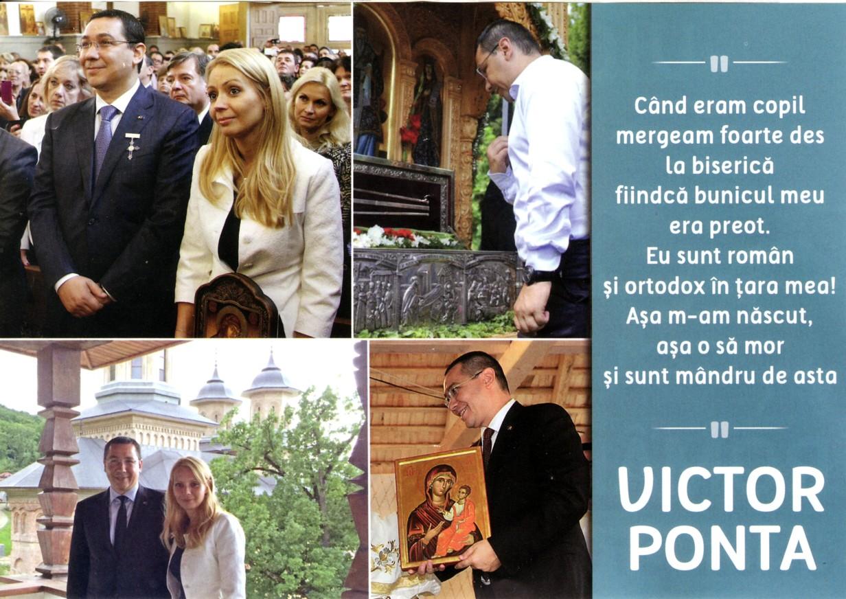 Ponta şi fata răspopitului Ilie Sârbu, pozând în creştini