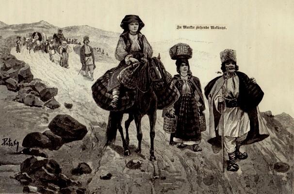 Români ardeleni, îndreptându-se, prin Pasul Tihuţa, spre Bucovina