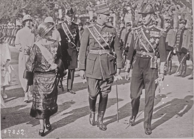 GALLICA: Prinţul moştenitor al României şi ducesa şi ducele de York