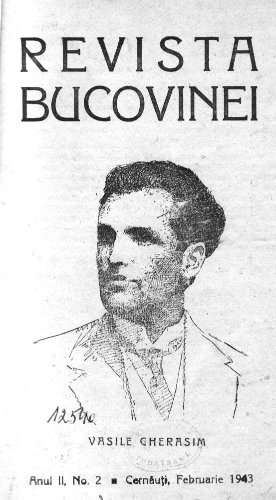 Revista Bucovinei din 1943, număr dedicat memoriei lui Vasile Gherasim