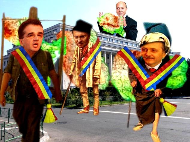 Traian Băsescu: Hoţilor, mi-aţi furat restul moşiei de la călăraşi! O să vă reclam Europei!