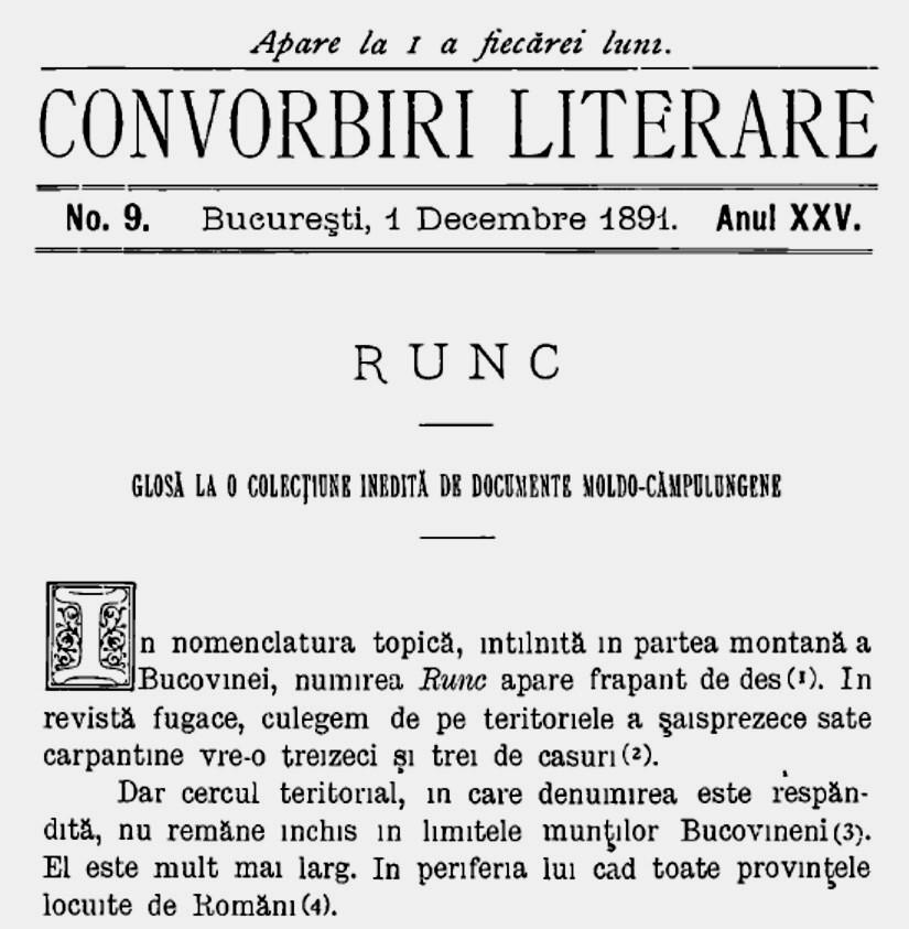 RUNC Convorbiri literare 1891