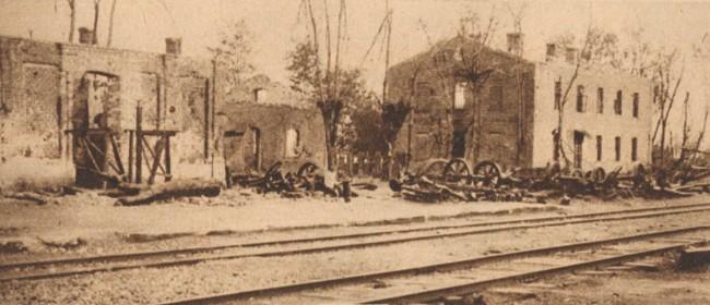 Războiul Înregirii: Gar bombardată - L'image de la guerre, august 1919