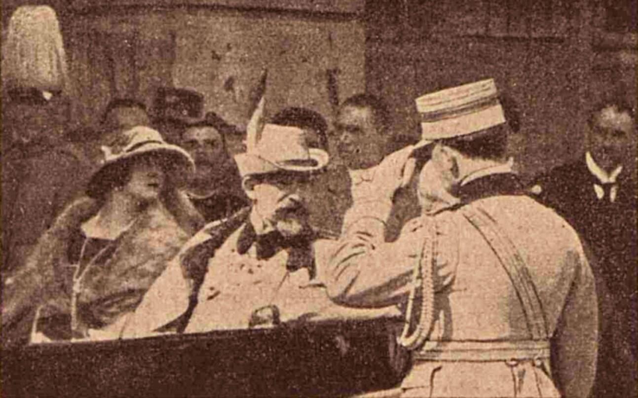 Regele Ferdinand şi Principesa Elisabeta, la Putna, în 16 mai 1920