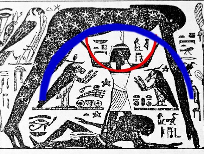 Regele alaptat de Isis cu grafica