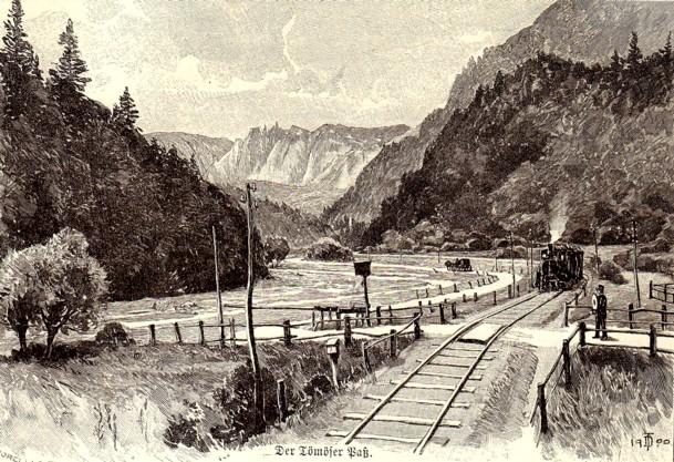Peisaj cu cale ferată