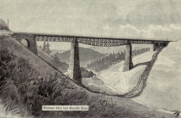 Viaduct, în munţi