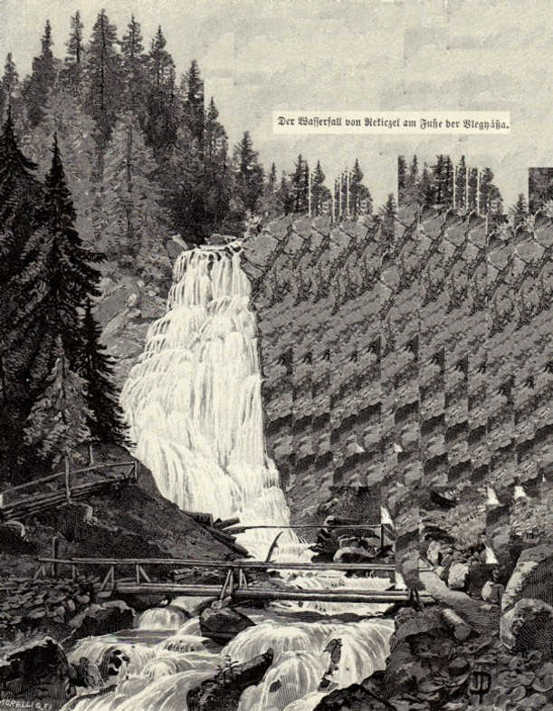 Cascadă, în munţi