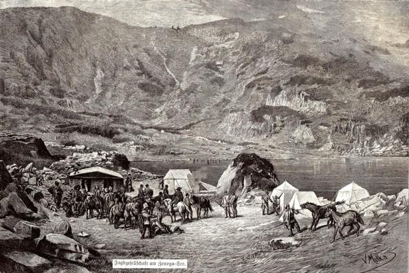 Oameni, cai şi munţi