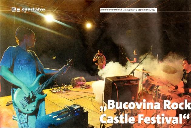 JURNALUL DE DUMINICĂ, despre prima ediţie BUCOVINA ROCK CASTLE