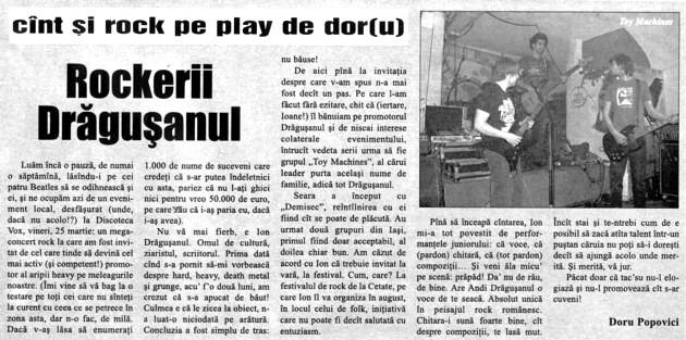 Prima ştire despe festival, în jupânu', nr. 14 (497), din 08-11.04.2011, p. 11