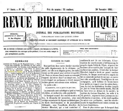 Revue Bibliographique
