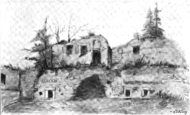 Ruinele chiliilor de la Vatra Moldoviţei