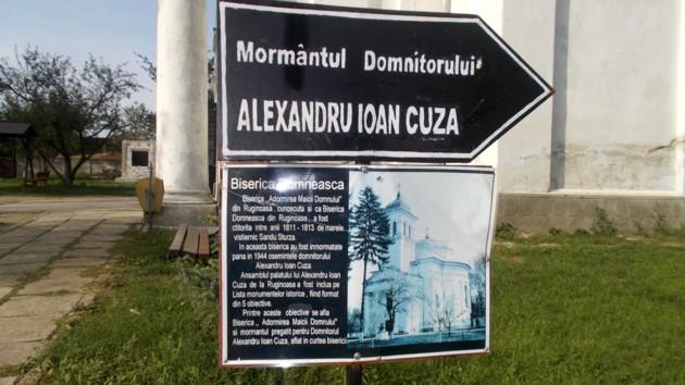 Ruşinoasa pancartă de la Ruginoasa