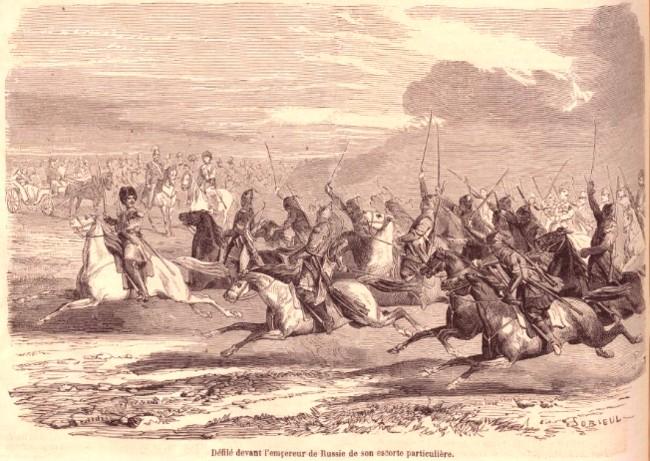 Rusi escorta tarului LMI 17 mar 1860