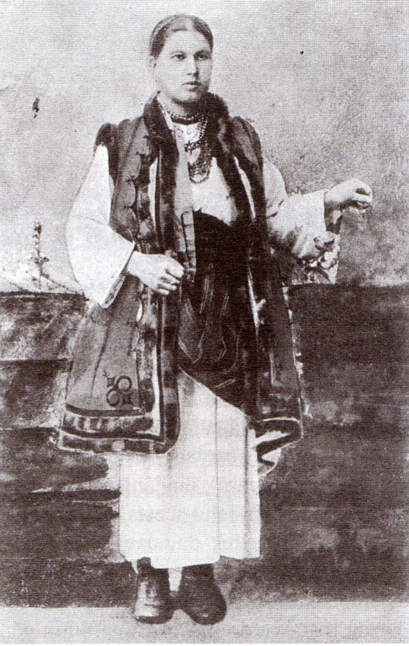Ruteancă din Coţmani, fotografie din colecţia lui Dimitrie Dan.