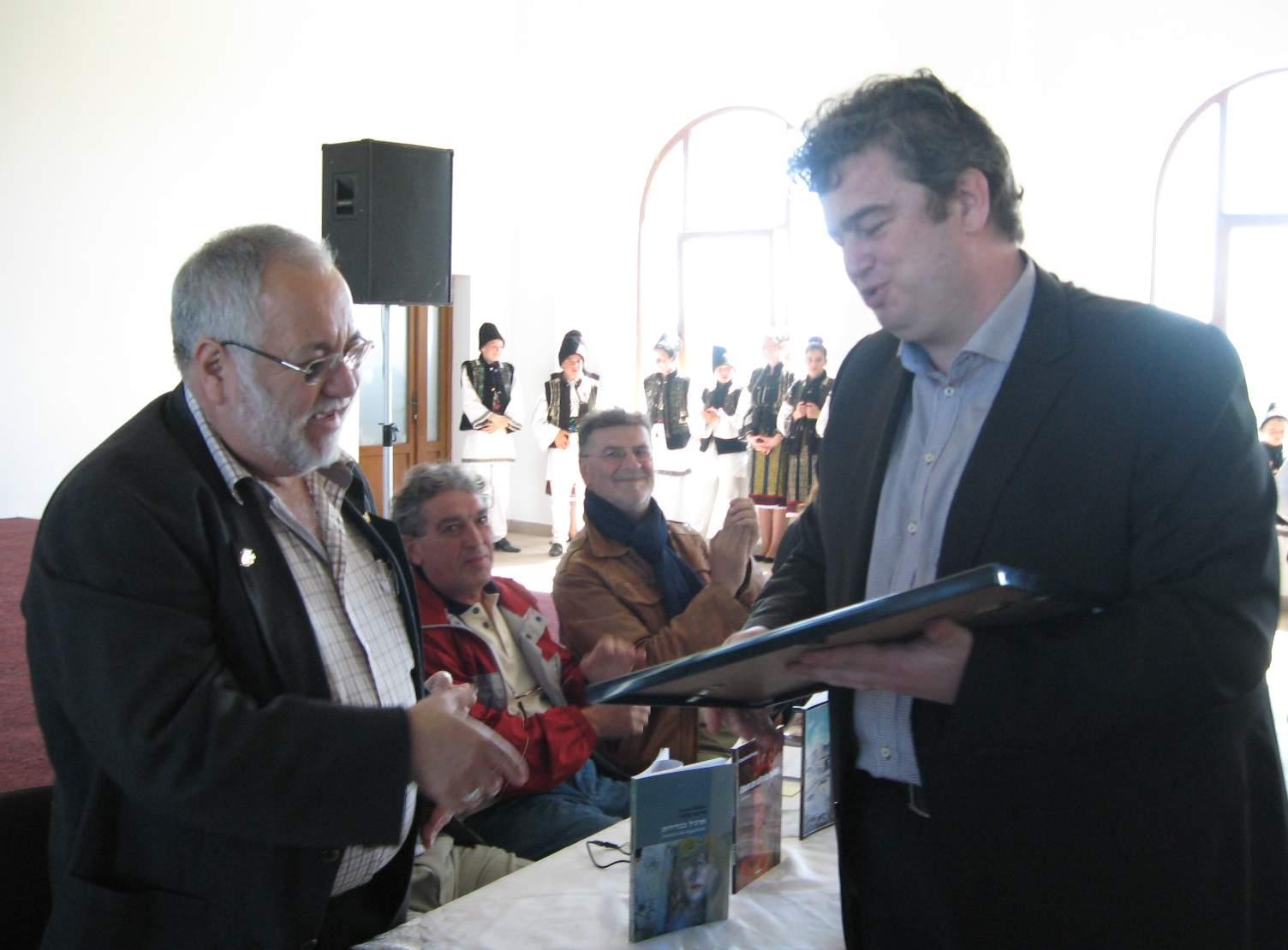 Menachem Falek şi Preşedintele Ioan Cătălin Nechifor