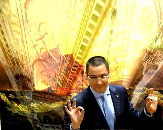 """Premierul Victor Ponta: """"Se scufundă România?... Staţi aşa, să dau cu babaroasele, şi să aflăm dacă se scufundă sau nu!""""."""