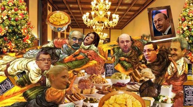 Victor Ponta: Aşa petreceau străbunii noştri romani, mai puţin Traian... Băsescu!