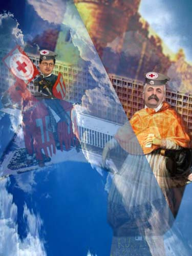 """Guristul Spitalului """"Sfântul Ioan cel Nou"""", Calaudiu Brădăţan: """"Pe-aici nu se trece! Ordin de la dom' jandar-manager Bastilie Râmbu!""""."""