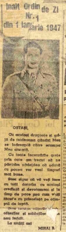Scanteia 1 pe 1947 ordin de zi