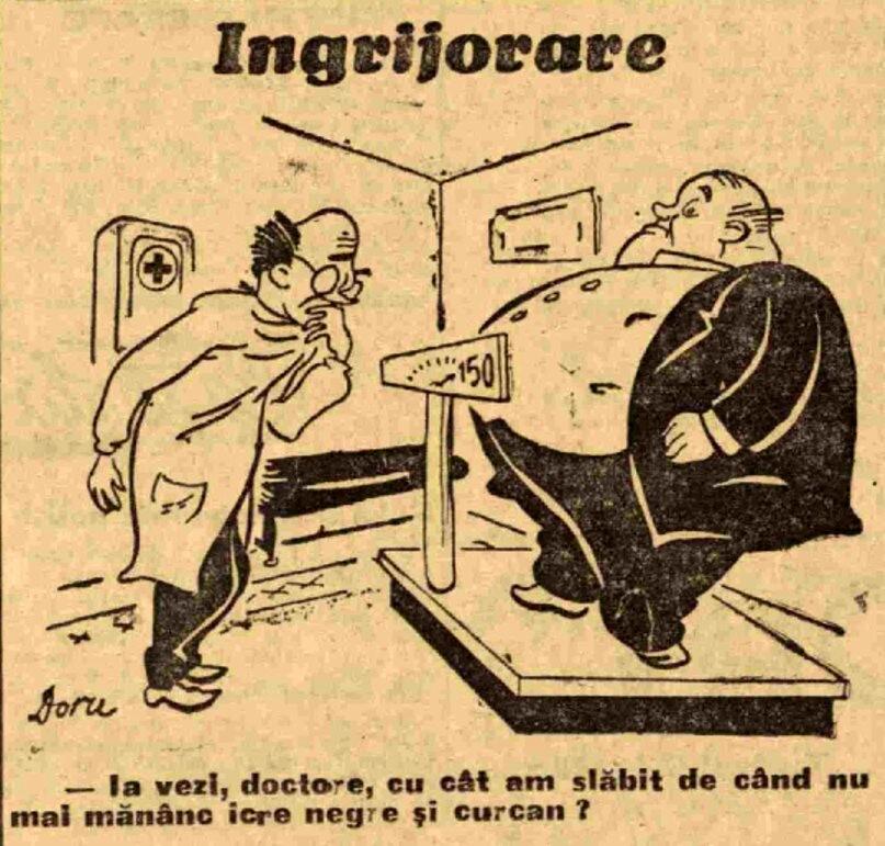 Scanteia 27 ian 1947 caricatura om gras