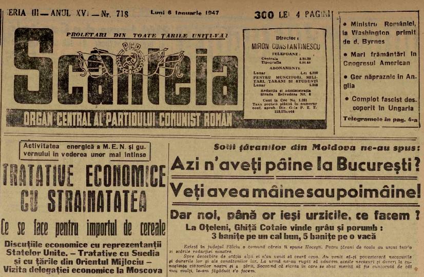 Scanteia 4 1947 foametea