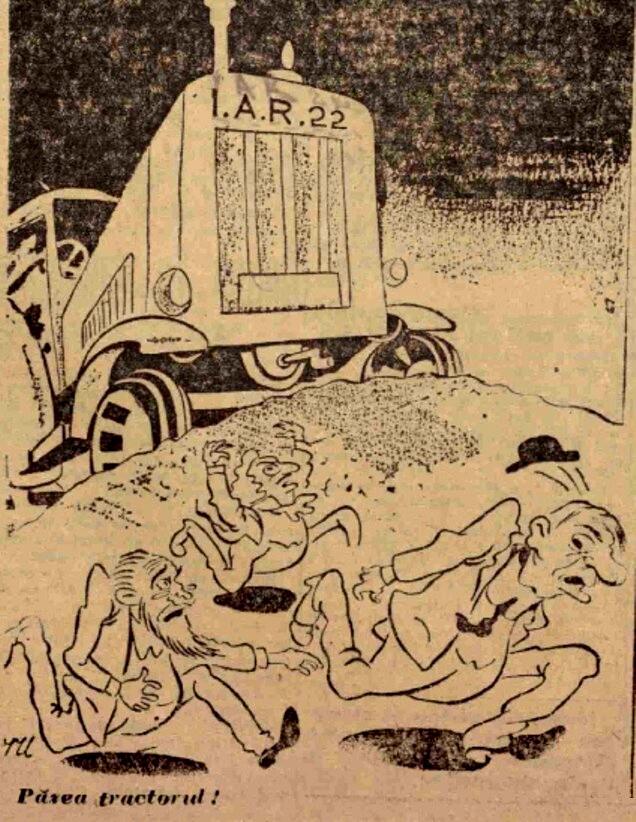 Scanteia 6 ian 1947 Pazea tractorul