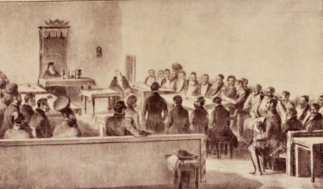 Şedinţa Divanului boieresc