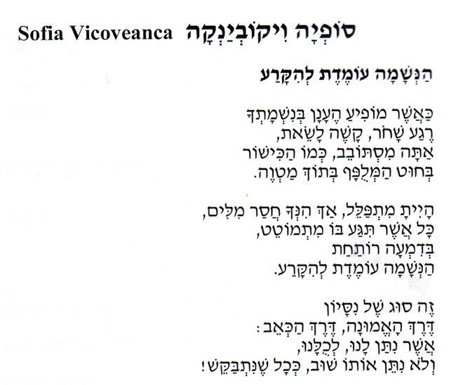 Sofia Vicoveanca poem