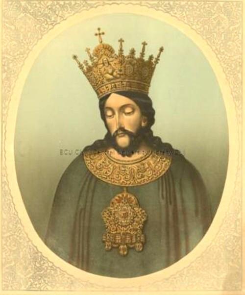 Ştefan cel Mare, portret fantezist de Karoly Pap de Szathmari