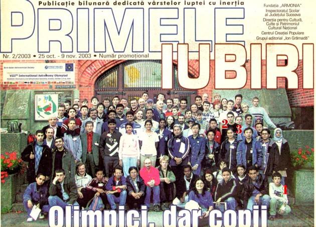 Olimpiada Mondială de Astronomie de la Stockholm, octombrie 2003
