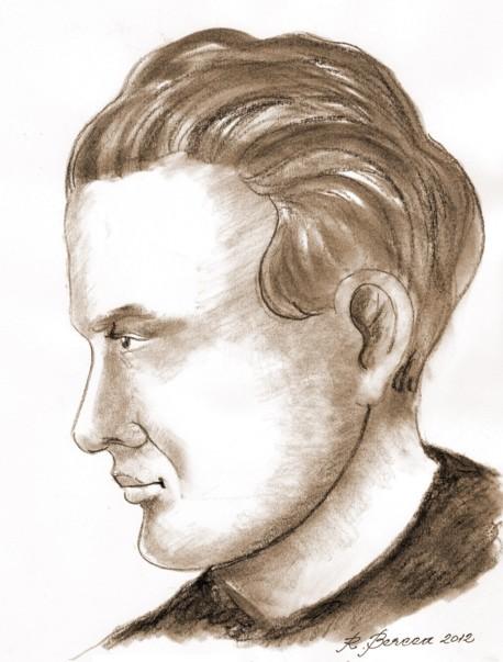 Mircea Streinul - desen de Radu Bercea