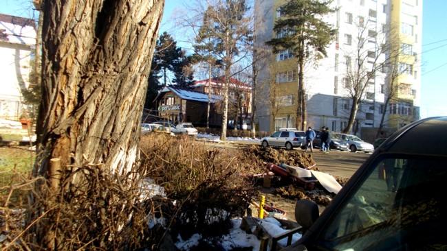Săpătura de la intersecţia cu strada Oituz