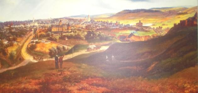 Suceava, pe la 1870, vătută de Franz Xaver Knapp