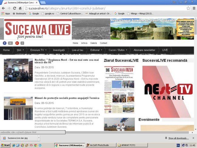 Suceava live: Publicitate CJ Suceava