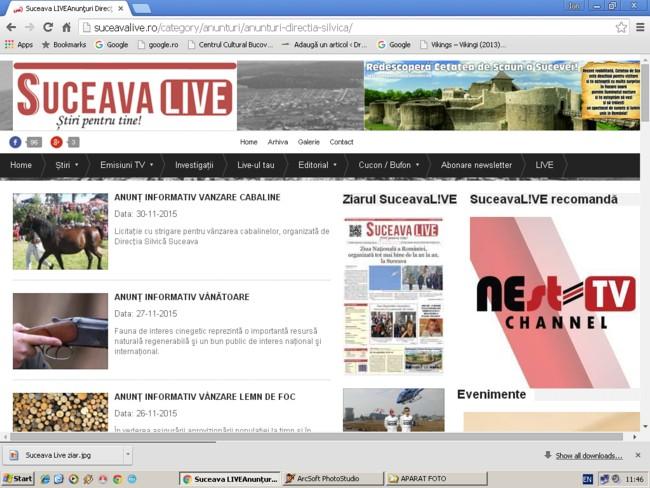 Suceava live: Publicitate Direcţia Silvică Suceava
