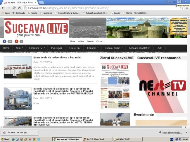 Suceava live: Publicitate Primăria Sucevei