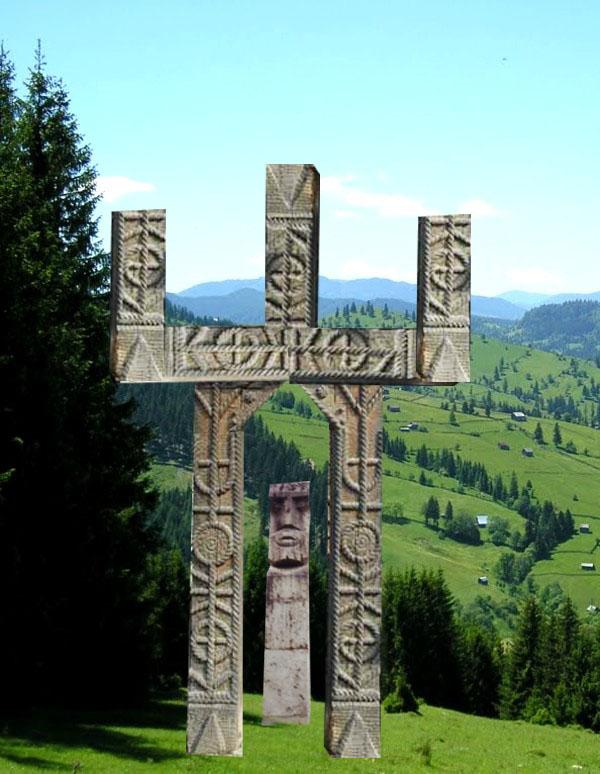 Sugestia Cerului, cu cele trei planuri (Deaus, Ur Anu şi Cernunos), dar şi cu Moşul
