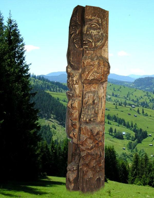 Sugestia complementarităţii mit-legendă, într-o lucrare a sculptorului sucevean Liviu Jitaru