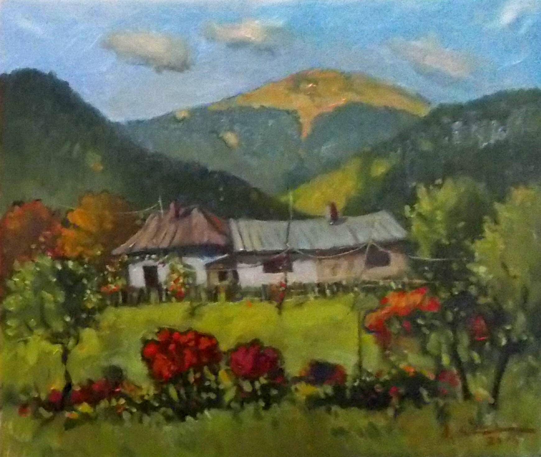 Munţii Dornelor, într-o pictură de David Croitor