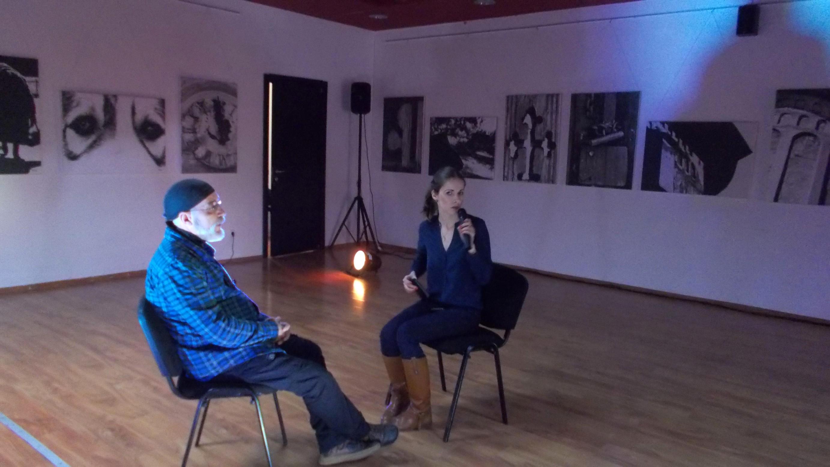 Victor T. Rusu şi Cătălina Biholar, la startul interviului