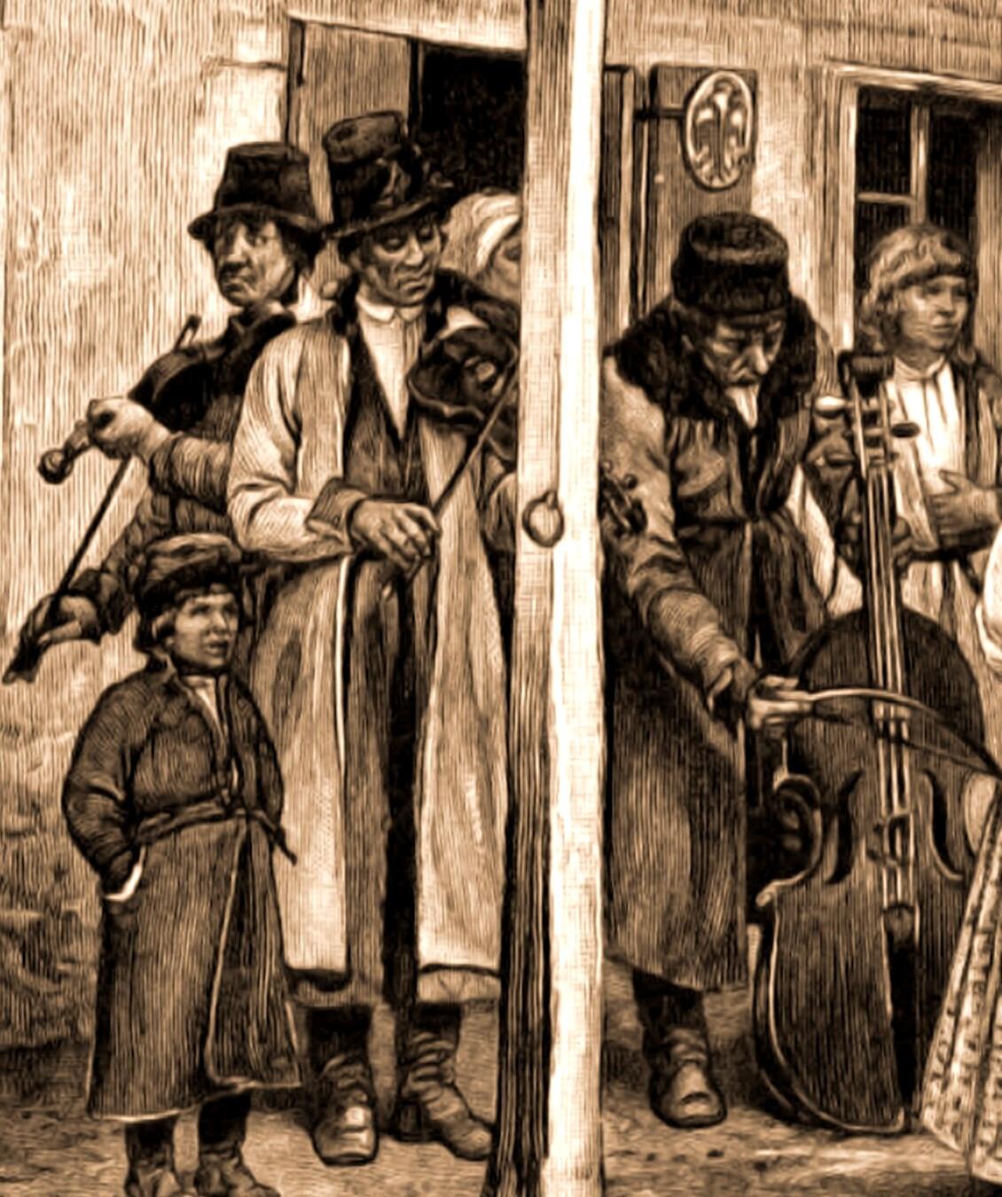 Lăutari evrei din Kolomeea, la o nuntă galiţiană