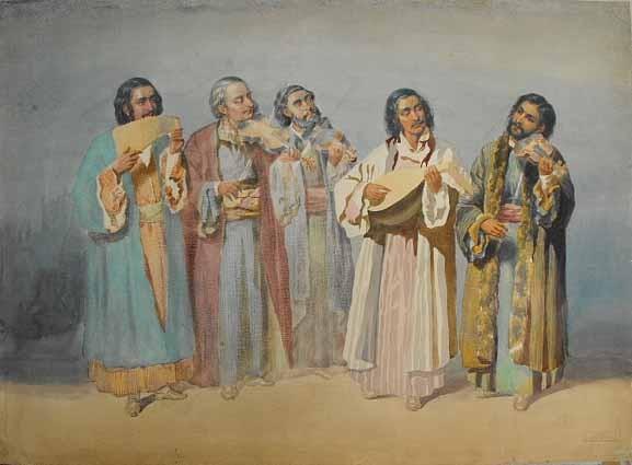 Taraful lui Ionică Ochialbi - Szathmari, 1860