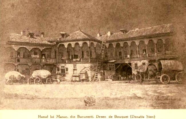 Tempera Bucuresti Hanul lui Manuc BOABE DE GRAU 1930 n 5 p 299